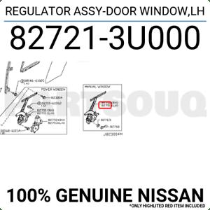 827213U000 Genuine Nissan REGULATOR ASSY-DOOR WINDOW,LH