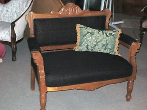 eastlake victorian parlor chairs steelcase leap chair v1 vs v2 settee bustle exceptional new image is loading
