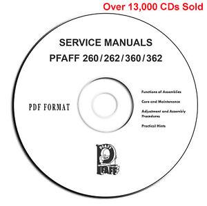 PFAFF 260 360 262 362 Automatic Instructions-Service Parts