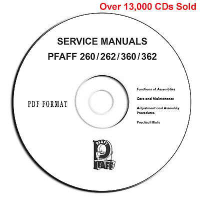 PFAFF 260 360 262 362 Automatic Instructions-Service Parts