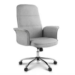 Grey Material Office Chair Farm Table With Chairs Fabric Desk Gumtree Australia