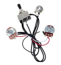 2 sets guitar wiring harness two pickup 500k 3 way toggle switch chrome [ 1200 x 1200 Pixel ]