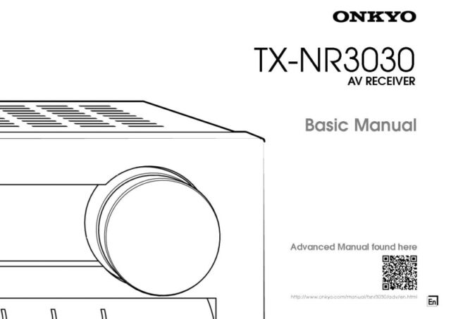 Onkyo Integra TX-NR3030 Basic Receiver Owners Instruction