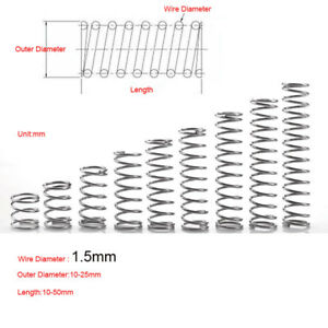 Wire Dia. 1.5mm Stainless Steel Spring Compression