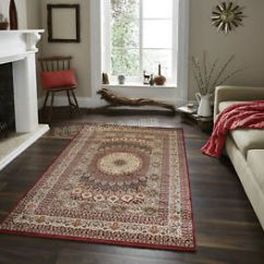 Red Rugs For Living Room Pillow Covers Persian Style Designer Rug Traditional Almas Image Is Loading