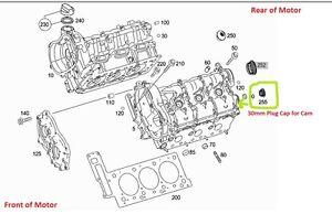 Mercedes Genuine Cam Plug 30mm E C ML SLK CLK CLS G GL GLK