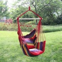 Garden Hanging Cushioned Seat Tree Hammock Porch Swing ...