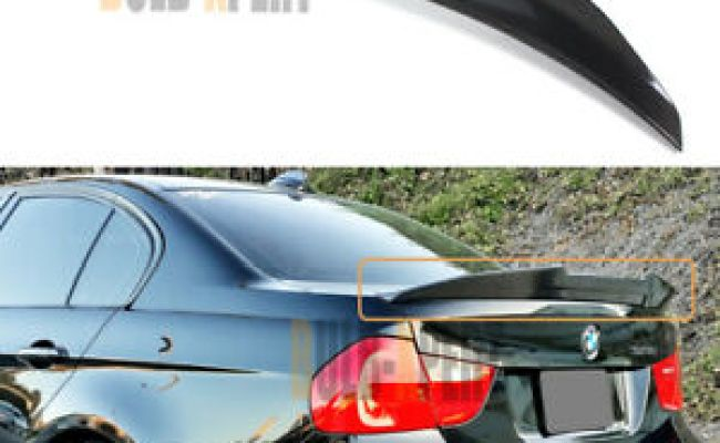 Real Carbon Fiber MotorFansClub Rear Spoiler Fit for Compatible with BMW E90 3 Series 2006-2011 Sedan /& M3 Trunk Wing