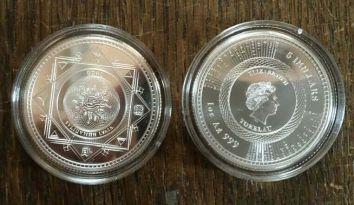 "5 Dollar Tokelau ""Vivat Humanitas 2020 "" BU 1 Oz Unze Silber - rare Erstausgabe"