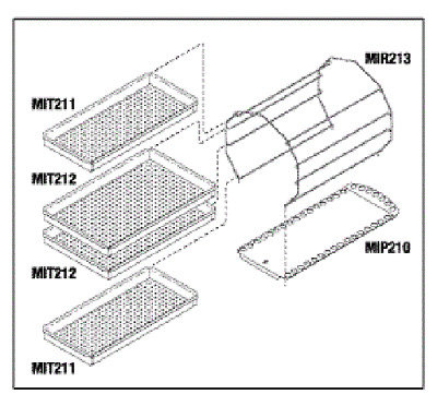 Midmark Ritter M11 Autoclave Tray Rack Kit RPI#MIK209 NEW