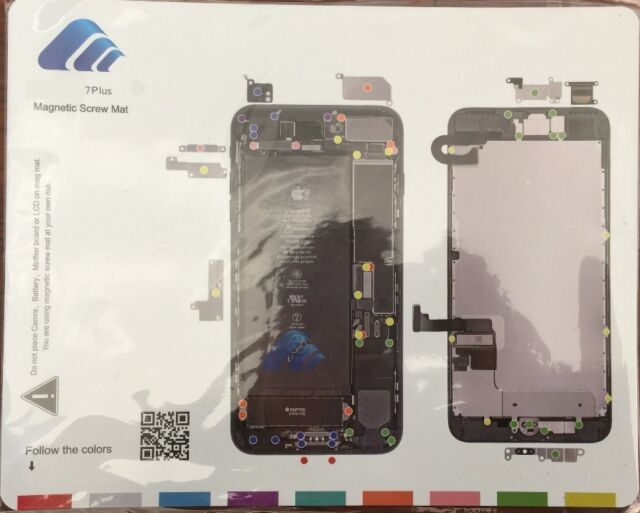 iphone 4 screw layout diagram vectra c radio wiring 7 plus 5 magnetic chart mat repair guide pad tool