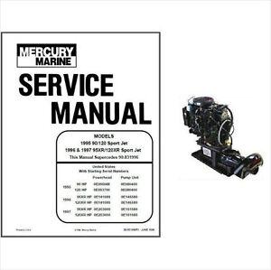 Mercury 90 120 95XR 120XR Sport Jet Outboard Service