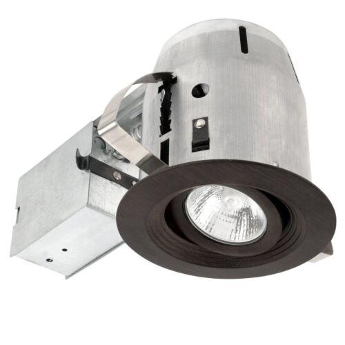 swivel aged bronze finish spot light 289427 utilitech 4 recessed lighting kit ceiling fixture home garden