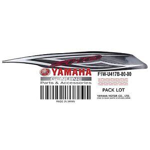 Yamaha OEM GRAPHIC 1 F1W-U417B-80-00 FX Cruiser SHO 2010