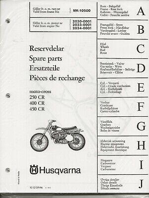Re-print Spare Parts Manual 1974 Husqvarna 250 400 450 CR