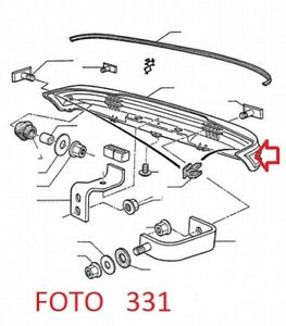 33671 PARAURTI POSTERIORE (REAR BUMPER) PEUGEOT 205 GTI
