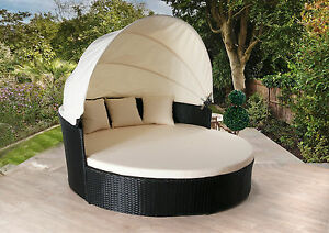 sofa lounger outdoor funky beds australia rattan day bed garden furniture patio image is loading