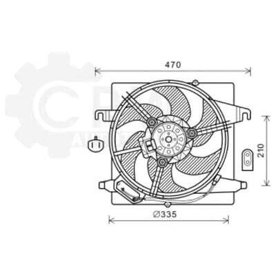 Lüfter Motorkühlung Kühlerlüfter Lüftermotor Ford KA Van