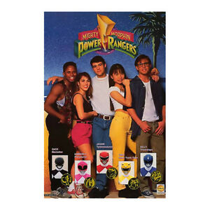 details about vintage 1993 mighty morphin power rangers saban 329 mmpr poster new sealed