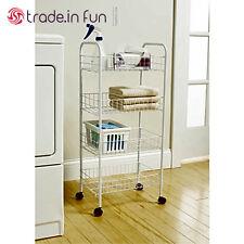 4 tier fruit cart basket rolling stand vegetable storage kitchen