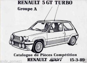 Manual Renault 5 Gt turbo. Grupo A. Catalogo de Piezas. 28