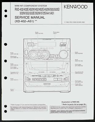 Kenwood RXD-402/ 452/502/552/572 Original Hifi System