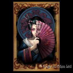 GEISHA SKULL* Anne Stokes Fantasy Gothic Art Blank Greeting Card AN83 eBay