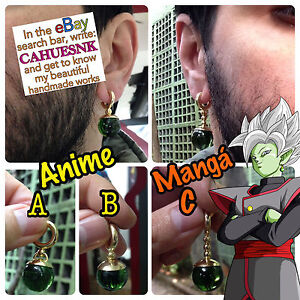 Real Earring Green Potara Kaioshin Goku Black and Zamasu
