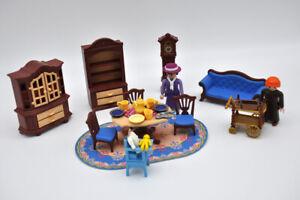 details sur playmobil salle a manger ancienne avec canape victorienne tbe