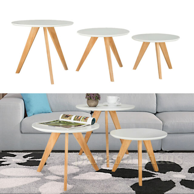 modern side tables for living room dollhouse furniture 3x coffee table tea desk design panana nest of 3