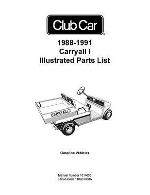 1988-1991 Club Car Carryall I Golf Cart Illustrated Repair