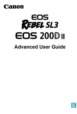 CANON EOS 200D MKII REBEL SL3 INSTRUCTION MANUAL USER