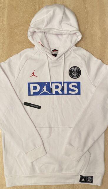 nike psg x jordan hoodie mens uk size large bq8350 100