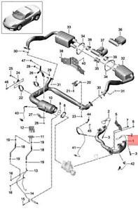 Genuine PORSCHE 718 Boxster Cayman 982 982C Exhaust