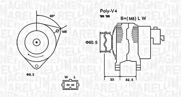 Alternator For FORD Transit Tourneo 1086299 MAGNETI
