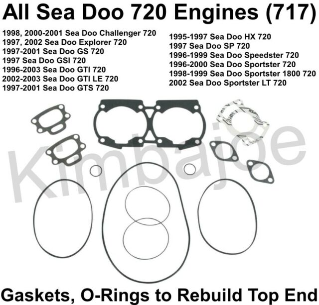 ALL Sea Doo 720 Engines 717 PWC Listed Gaskets O-Rings to