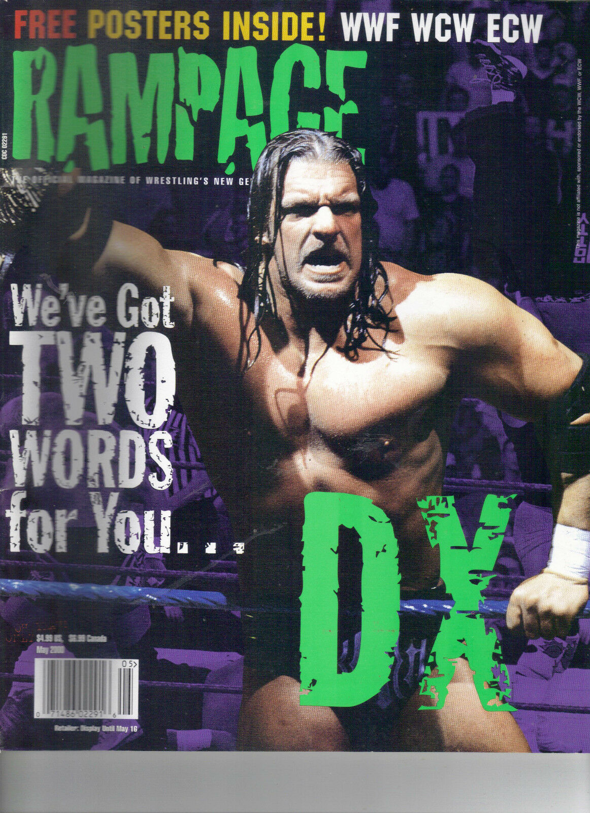 Rampage wrestling magazine May 2000 Triple H