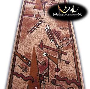 Modern Hall Carpet Runner Bcf Pinocchio Stairs Width 60Cm 200Cm | Modern Carpet Runners For Stairs | Geometric | Design | White | Curved | Kitchen Modern