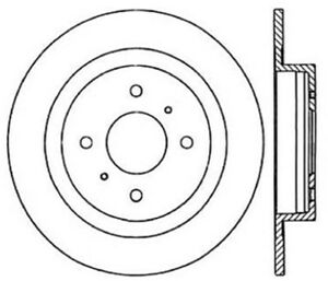 Rear Brake Rotor For 1984-1985 Nissan 300ZX Centric 121