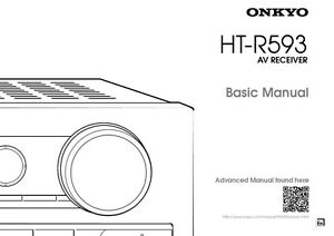 Onkyo Integra HT-R593 Receiver Owners Instruction Manual