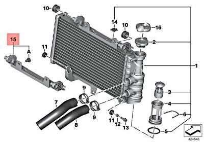 Genuine BMW K70 K71 K72 K73 K75 0228 Repair Kit Radiator