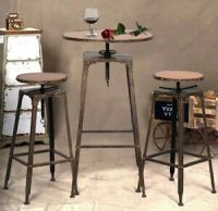 Indoor Bistro Set Table and Chairs Bar Height Dining ...