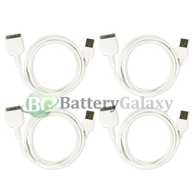4 NEW USB Battery Charger Cable Cord for Apple iPad Pad