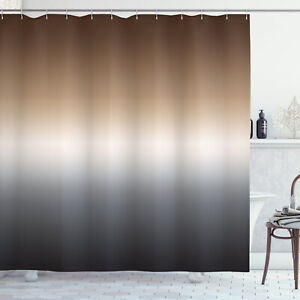 details about ombre shower curtain brown and grey pattern print for bathroom