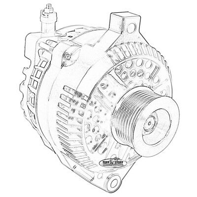 Tuff Stuff Alternator 8266A8G; 6G 110 Amp Chrome for 2003