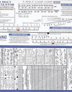 Image is loading air duct sizing calculator slide chart hvac also ebay rh