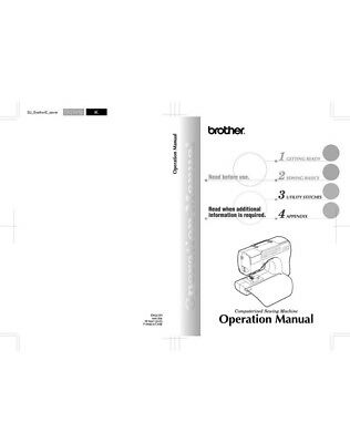 Brother CS-80 Sewing Machine Owners Instruction Manual