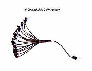 16 Channel LED Multi-Color Accent Light Harness RGB