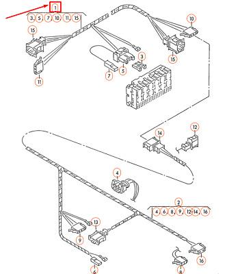 Volkswagen TRANSPORTER T4 Central Locking Wiring Harness