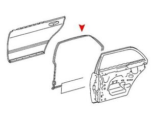 Mercedes Benz W114 W115 Window Seals Weatherstrip Gasket